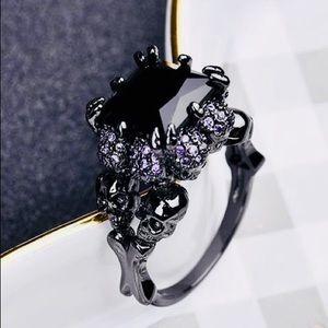Black & Purple Claw Bling Skull 💀 Rings